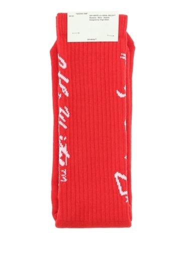 Off-White Çorap Kırmızı
